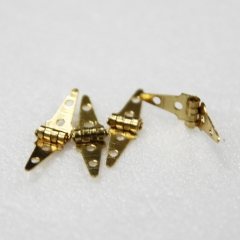 1121-Brass Triangle Hinge 4pc-미니어쳐용