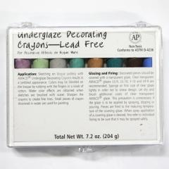 [특가판매]CR209- Underglaze Chalk Crayons - LEAD FREE(8SET)