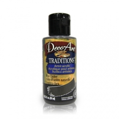 DecoArt Traditions Acrylic Paint-DAT45: Raw Umber-3oz(90ml)