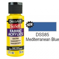 SoSoft Fabric Color-2oz(59ml)-DSS85-Mediterranean Blue