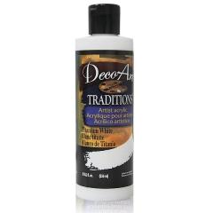 DecoArt Traditions Acrylic Paint-DAT35: Titanium White-8oz(236ml)