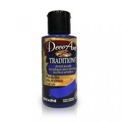 DecoArt Traditions Acrylic Paint-DAT24: Phthalo Blue-3oz(90ml)