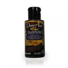 DecoArt Traditions Acrylic Paint-DAT46: Burnt Umber-3oz(90ml)