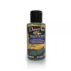 DecoArt Traditions Acrylic Paint-DAT59: Sap Green-3oz(90ml)