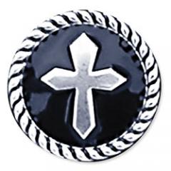 7758-01 Epoxy Cross Concho 1/2``
