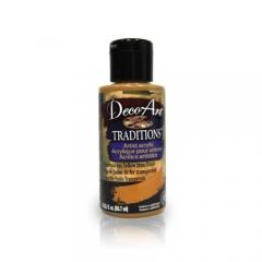 DecoArt Traditions Acrylic Paint-DAT56: Transparent Yellow Iron Oxide-3oz(90ml)