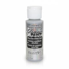 Glamour Dust Glitter Paints-DGD02 Silver Bling-2oz(59ml)