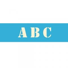 "AS109 5"" Stencil Font Alphabet (contains 7 sheets)"