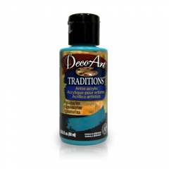 DecoArt Traditions Acrylic Paint-DAT29: Aquamarine-3oz(90ml)