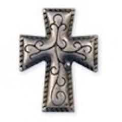 71506-02 3/4`` Cross Rivetback Concho