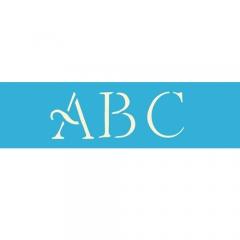 """AS110 3"""" Simple Script Alphabet (contains 3 sheets)"""