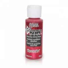 Glamour Dust Glitter Paints-DGD03 Sizzling Red-2oz(59ml)