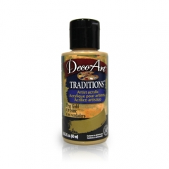 DecoArt Traditions Acrylic Paint-DAT50: True Gold-3oz(90ml)