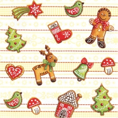 611338-Gingerbread 넵킨페이퍼(20매)