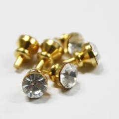 1144-Brass Crystal Door Knob 6pc-미니어쳐용