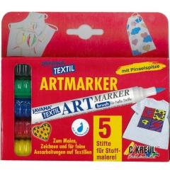 JAVANA TEX Artmarker-SET(밝은원단용-펜타입)