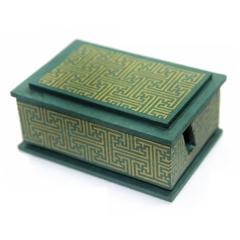 격자문양 명함꽂이B(초록+금문양)