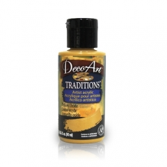 DecoArt Traditions Acrylic Paint-DAT12: Yellow Oxide-3oz(90ml)