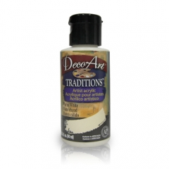 DecoArt Traditions Acrylic Paint-DAT36: Warm White-3oz(90ml)