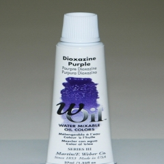 [특가판매]W-Oil (Water Mixable Oil Color) 37ml S3: 7411 Dioxazine Purple