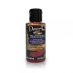 DecoArt Traditions Acrylic Paint-DAT51: Permanent Alizarin -3oz(90ml)Crimson