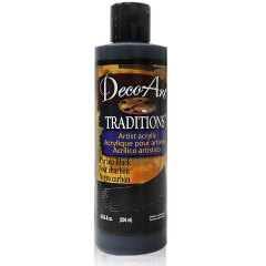 DecoArt Traditions Acrylic Paint-DAT42: Crabon Black-8oz(236ml)