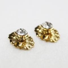 1141-Brs/Crystal Medal Knob 2pc-미니어쳐용
