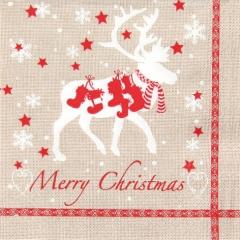 611327-Christmas Reindeer 넵킨페이퍼(20매)