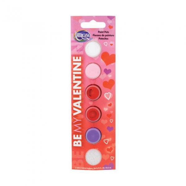 [특가판매]DAPK233-B Americana 6 Pot Acrylic Paints Set - Be My Valentine